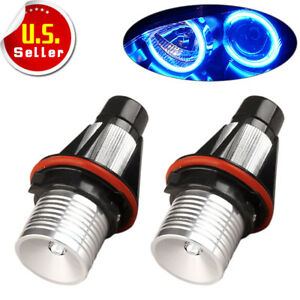 For Bmw X5 E63 E64 E53 Ultra Blue 7w Led Angel Eyes Marker Light Drl Us
