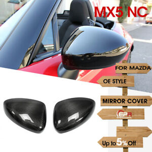 Side Mirror Cover For Mazda Mx5 Nd5rc Miata Roadster Oe Cap Trim Carbon Fiber
