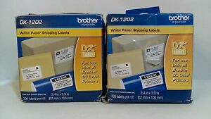 Brother Dk 1202 White Paper Shipping Labels Roll nop pack Of 2