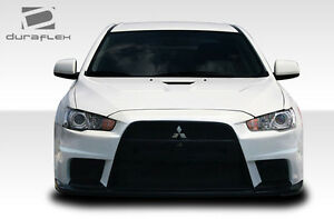 08 17 Mitsubishi Lancer Duraflex Evo X Look Front Bumper 1pc Body Kit 106953