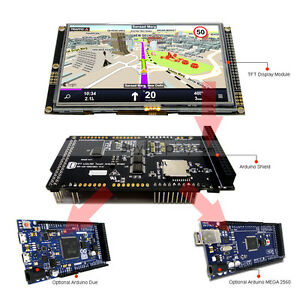 5 Inch 480x272 Tft Lcd Resistive Touch Shield For Arduino Due mega 2560 Library