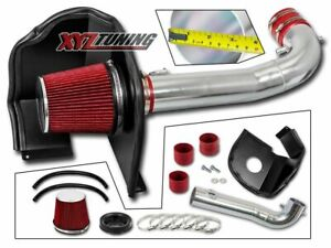 3 5 Red Heat Shield Cold Air Intake Filter For 15 19 Chevy gmc 5 3l 6 2l V8