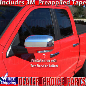 For 2009 2010 2011 2012 Dodge Ram 1500 Chrome Mirror Covers Painted W Turnsig
