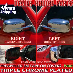2009 2018 Dodge Ram 1500 Triple Chrome Mirror Covers Non Towing Without Signal