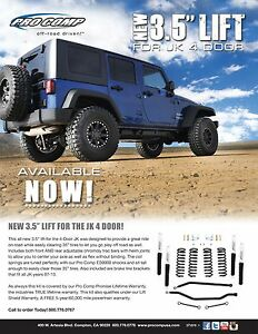 New Pro Comp K3100b 3 5 07 14 Jeep Wrangler Jk 4wd Lift Kit
