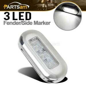 White 3 Boat Rv Interior Exterior 3led Courtesy Cabin Walkway Oval Accent Light