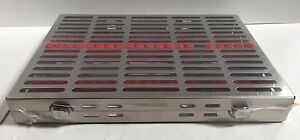 Dental Surgical 20 Instruments Sterilization Cassette Tray Rack Holder Case New