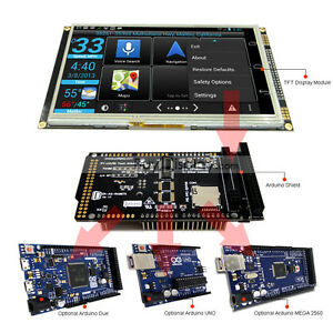 7 Inch Tft Lcd Resistive Touch Ra8875 Shield For Arduino Due mega 2560 Uno