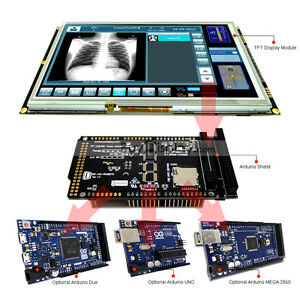 9 Inch Tft Lcd Resistive Touch Ra8875 Shield For Arduino Due mega 2560 Uno