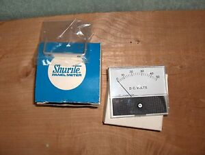 7122z Shurite Model 750 0 50 Dc Volts 3 3 8 w X 2 7 8 h Analog Panel Meter Nos