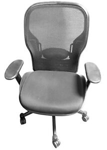 Ergonomic Computer Desk Chair Graphite Carbon Lumbar