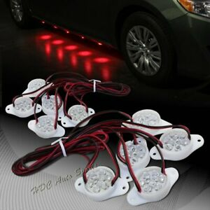 Brabus Style Red 90 Led Underglow Under Car Puddle Lighting Lamp Universal