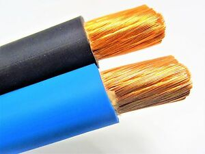 50 2 0 Welding Battery Cable 25 Black 25 Blue 600v Usa Epdm Heavy Duty Copper