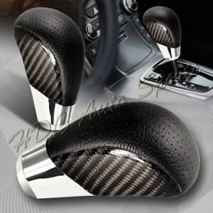 Vip Real Carbon Fiber Pvc Leather Manual Mt Gear Shift Shifter Knob Universal 2