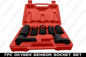 7pc 1 2 Drive Oxgen Socket Set Oxygen Sensor Sockets Removal Tool Kit