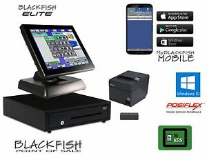 Elite All New All in one Blackfish Bar Restaurant Pos System Touch Windows 10