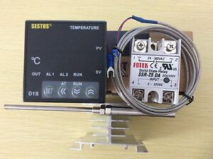 Digital Pid Temperature Controller D1s vr 220 2m Pt100 Probe 25a Ssr heat Sink