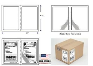 2000 Quality Round Corner Shipping Labels 2 Per Sheet 8 5 X 5 5