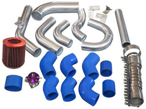 Intercooler Piping Kit Bov Turbo Air Filter For 98 05 Lexus Is300 2jz ge Na t bl