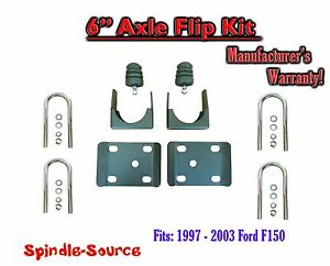 1997 2003 Ford F150 F 150 6 Inch Lowering Drop Rear Axle Flip Kit U Bolts