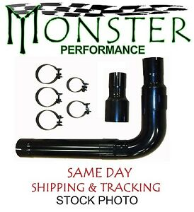 Single Black Stack Install Kit Fits 3 5 4 5 Exhaust Monster Std006b