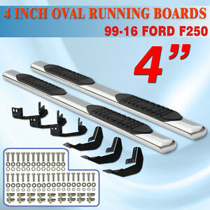 Fit 99 16 Ford F250 Superduty Crew Cab 4 Nerf Bar Running Board Side Step Oval