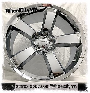 22 X9 Chrome Dodge Charger Srt Oe Factory Replica Wheels Challenger 300 C 5x115
