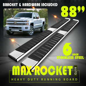 For 2007 2018 Silverado sierra Crew Cab 6 Nerf Bar Running Board Side Step S s