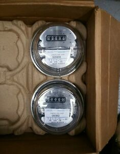 Lot Of 2 Coastal Elec Coop Electricity Meter