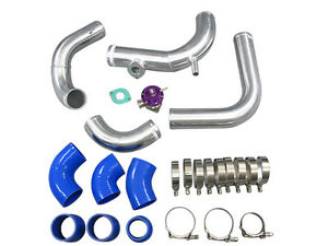 Side Mount Intercooler Piping Kit S13 S14 240sx With Rb20 rb25det Engine blue