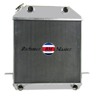 Aluminum Radiator For 1939 1941 Ford Mercury Flat Head V8 3row 1940