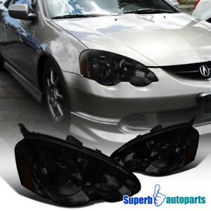 For 2002 2004 Acura Rsx Diamond Headlights Head Lamps Smoke