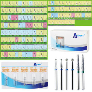 100 Packs Dental Diamond Tooth Drill Burs 150 Types For High Speed Handpieces