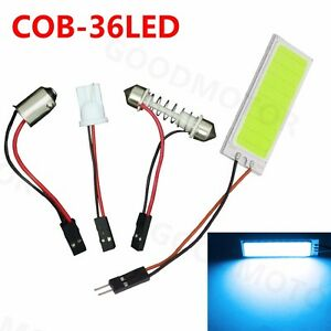 High Quality 1x 36cob Led Panel Car Bulb Interior Map Dome Trunk Light Ice Blue