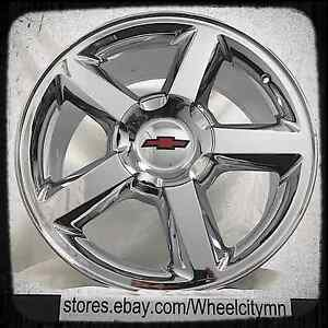 20 Inch Chrome Chevrolet Silverado Tahoe Avalanche Ltz Oe Factory Wheels 6x5 5
