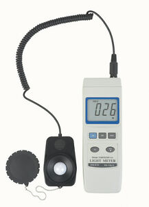 Reed Yk 10lx 3 digit Lcd Light Meter With Detached Probe 0 To 20 000 Lux
