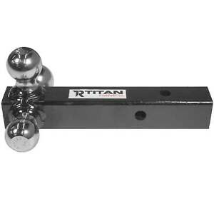 Titan Triple Ball Trailer Hitch Mount For 2 Class Iii iv Receiver Truck Towing