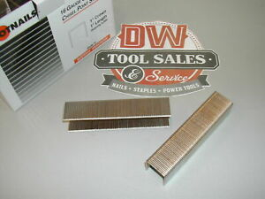 1608pg Wide Crown Staples 1 Inch 16 Gauge Galvanized S2 Bostitch Type 10 000