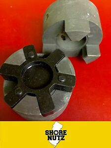 L190 3pc Jaw Coupling X pick Your Bores With Rubber Spider See Chart Below