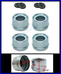 4 Trailer 1 98 Ez Lube Grease Hub Cover Dust Cap W rubber Plug Free Shipping