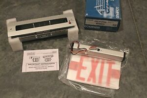 Exit Sign With Battery Backup Hubbell Lighting Compass Celr2rne Recessed