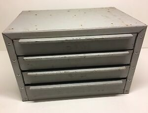 Metal Storage Cabinet 4 Drawer Bolt Bin Industrial Garage Heavy 18 X 12 X 12