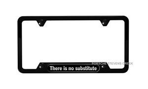Oem Porsche Black License Plate Frame there Is No Substitute Stainless Steel
