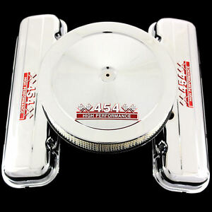 Chrome Valve Covers And Air Cleaner Combo Fits Big Block Chevy 454 Engines Short
