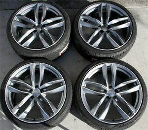 Set 4 19x8 5 5x112 Et45 Wheels Tires Pkg Fit Vw Jetta Passat Glof Eos Gti Mkv