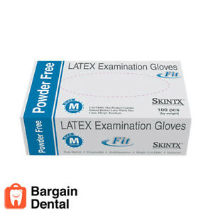 2000 Gloves Skintx Fit Latex Exam Powder Free Dental Medical Tattoo Clinical