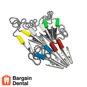 10 Pack Patient Bib Clips Chains Napkin Holder Assorted Dental Tattoo Medical