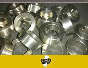 100 1 4 Shaft Solid Stainless Steel Set Screw Collar Stop Ssc25