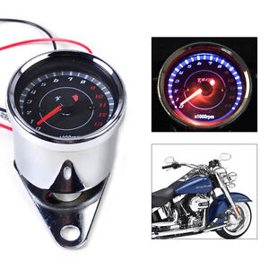 60mm Led 13000 Rpm Tachometer Fit For Scooter Analog Tacho Meter Gauge Motor New