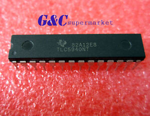 1 2 5 10 20 50pc Ic Led Driver Pwm Control 28 dip Tlc5940 Good Quality Tlc5940nt